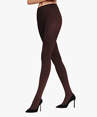 FALKE Pure Matt 100 Tights - Cigar (Brown)