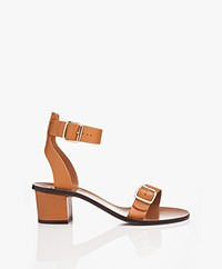 ATP Atelier Carmen Leather Heeled Sandals - Terra