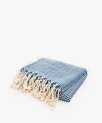 Bon Bini Hammam Towel Chikitu 180 cm x 90 cm - Navy