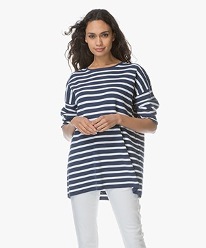 Drykorn Florrie Striped Sweater - Blue/White