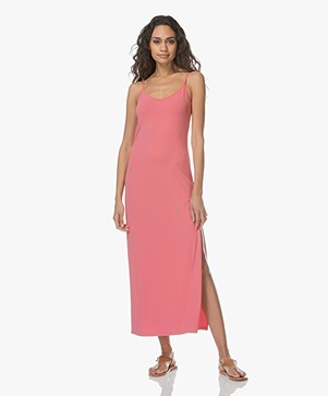 no man's land Maxi Dress in Crepe Jersey - Peony
