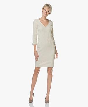 Josephine & Co Livia Jacquard Boucle Dress - Sand