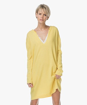 Project AJ117 Silke Straight Knitted Dress - Yellow