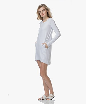 BRAEZ Daisy Jersey Sweater Dress - White