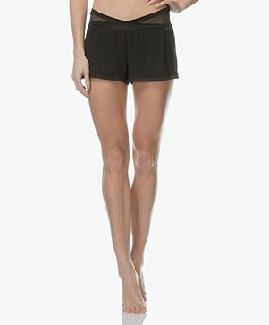 Calvin Klein Jersey Sleep Shorts - Black
