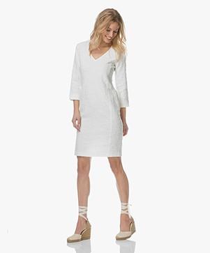 Josephine & Co Livia Jacquard Boucle Dress - White