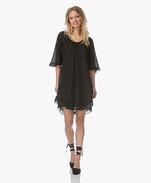 BRAEZ Birgit Voile Ruffle Dress - Black