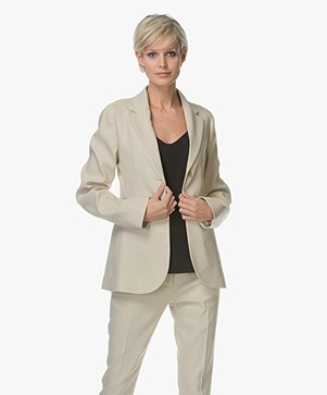 Joseph Archi Linen Blend Stretch Blazer - Hessian