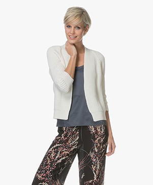 BY-BAR Cherry Cotton Knitted Cardigan - Off-white