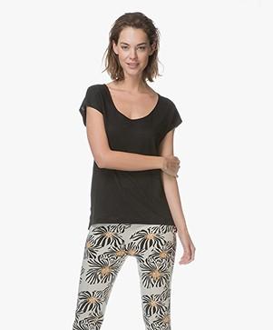 Kyra & Ko Fira Linen T-shirt - Black
