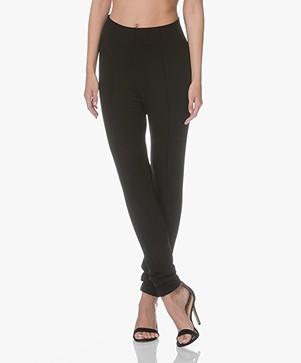 Kyra & Ko Lien Crêpe Jersey Pantalon - Zwart