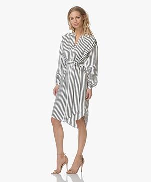 FWSS Lisa Silk Shirt Dress - Sonder Stripes