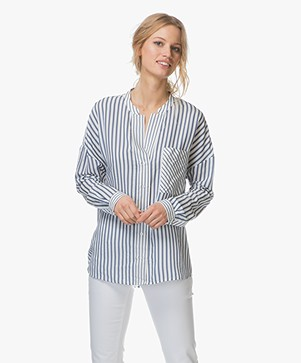 HUGO Empira Gestreepte Blouse - Open Miscellaneous