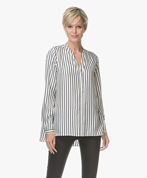 FWSS Bente Pure Silk Blouse - Sonder Stripes