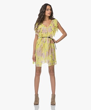 Zadig & Voltaire Rivel Blossom Print Dress - Lemon