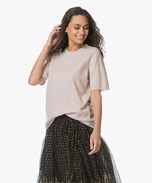 extreme cashmere N°64 Lang Gebreid T-shirt - Blush