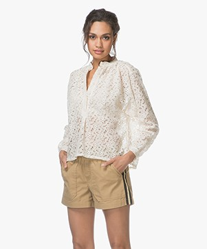 LEÏ 1984 Apolline Lace Blouse - Ecru