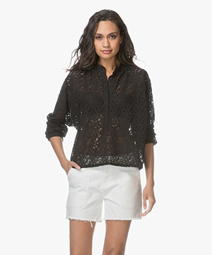 LEÏ 1984 Apolline Lace Blouse - Black