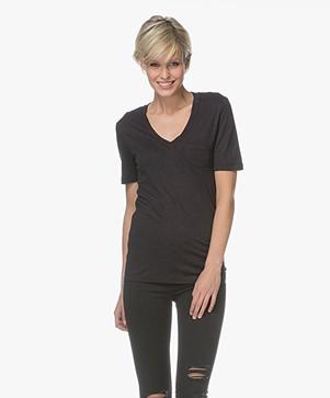Denham Pilot Slub Jersey T-shirt - Shadow Black