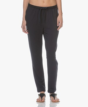 Majestic Soft Touch Viscose Sweatpants - Marine