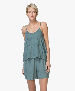 Marie Sixtine Eva A-line Jersey Top in Organic Cotton - Thyme