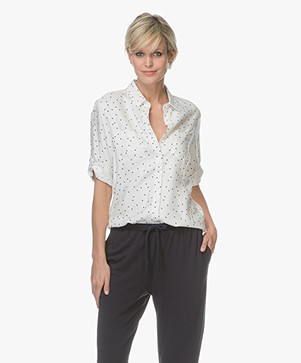 Baukjen Layla Viscose Blouse met Sterrenprint - Off-white