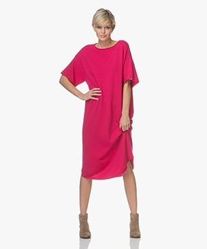 extreme cashmere N°44 Cashmere Teelong Dress - Kiss