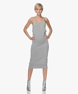 extreme cashmere N°62 Visible Knitted Tank Dress - Grey