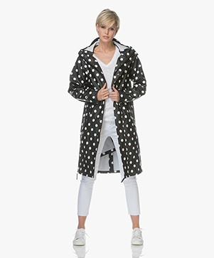 Maium 2-in-1 Polkadot Regenjas - Black/White
