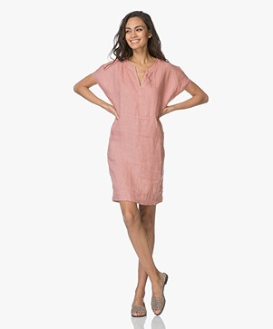 BY-BAR New Gitte Linen Dress - Ash Rose