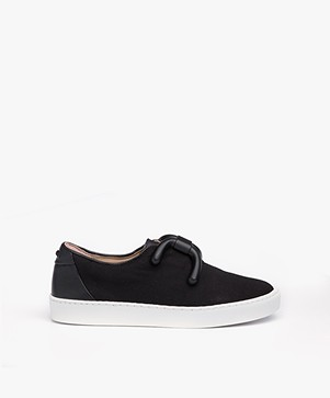 An Hour And A Shower Livia Slip-on Canvas Sneakers - Black