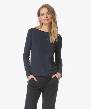 Petit Bateau Boat Neck Long Sleeve - Smoking