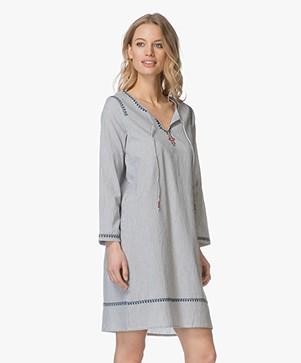 Indi & Cold Cotton Tunic Dress - Indigo
