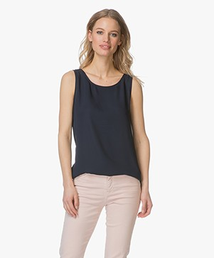 Woman by Earn Cat Sleeveless Top - Navi Vari