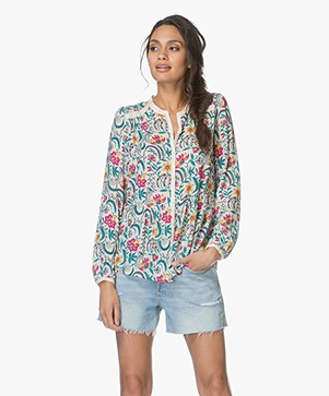 ba&sh Hopeful Floral Print Blouse - Ecru