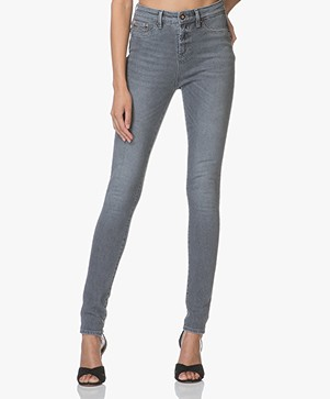 Denham Needle High Skinny Jeans - Grey