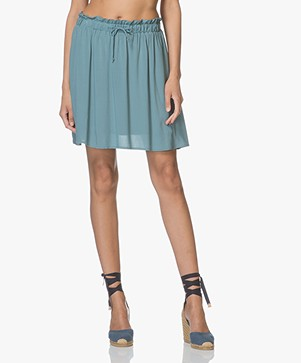 Marie Sixtine Devia Pleated Viscose Skirt - Thyme