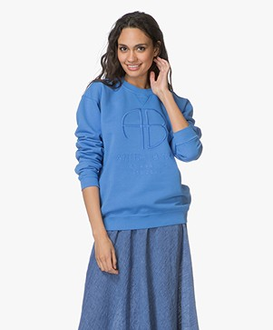 ANINE BING Logo Sweater - Blue