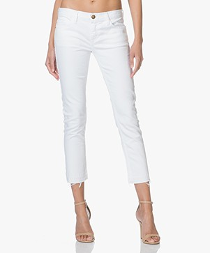 Current/Elliott Stiletto Released Hem Skinny Jeans - Sugar Wit