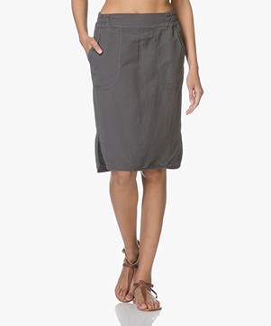 no man's land Linnenmix Rok - Pewter