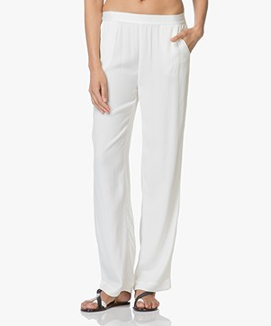 no man's land Loose-fit Crepe Pants - Jasmin