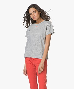 Rag & Bone Star Vintage Crew T-shirt - Heather Grey