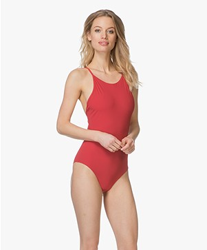 Filippa K Soft Sport Athletic-cut Swimsuit - Rouge