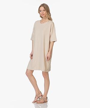 Friday's Project Oversized Linen T-shirt Dress - Beige