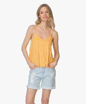 Marie Sixtine Eva A-line Jersey Top in Organic Cotton - Golden