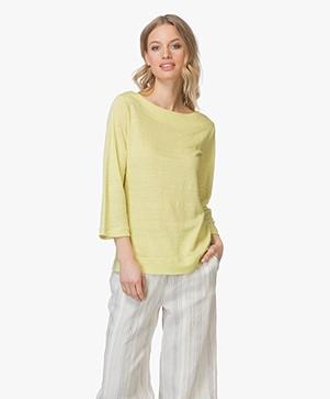 no man's land Linen T-shirt - Citrus