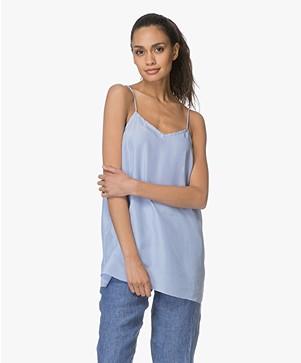 extreme cashmere N°69 Star Habotai Zijde Camisole - Nice Blue