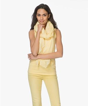 Repeat Katoenen Pigment-Dye Sjaal - Geel