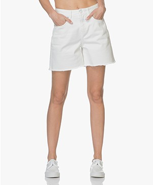 Closed Lucy High Waist Denim Shorts - White