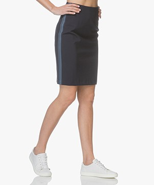 Drykorn Falon Jersey Pencil Skirt - Dark Blue